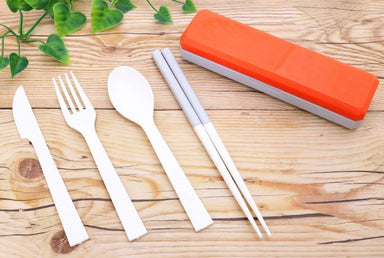 GO OUT Cutlery | Flame Red by Kokubo - Bento&co Japanese Bento Lunch Boxes and Kitchenware Specialists