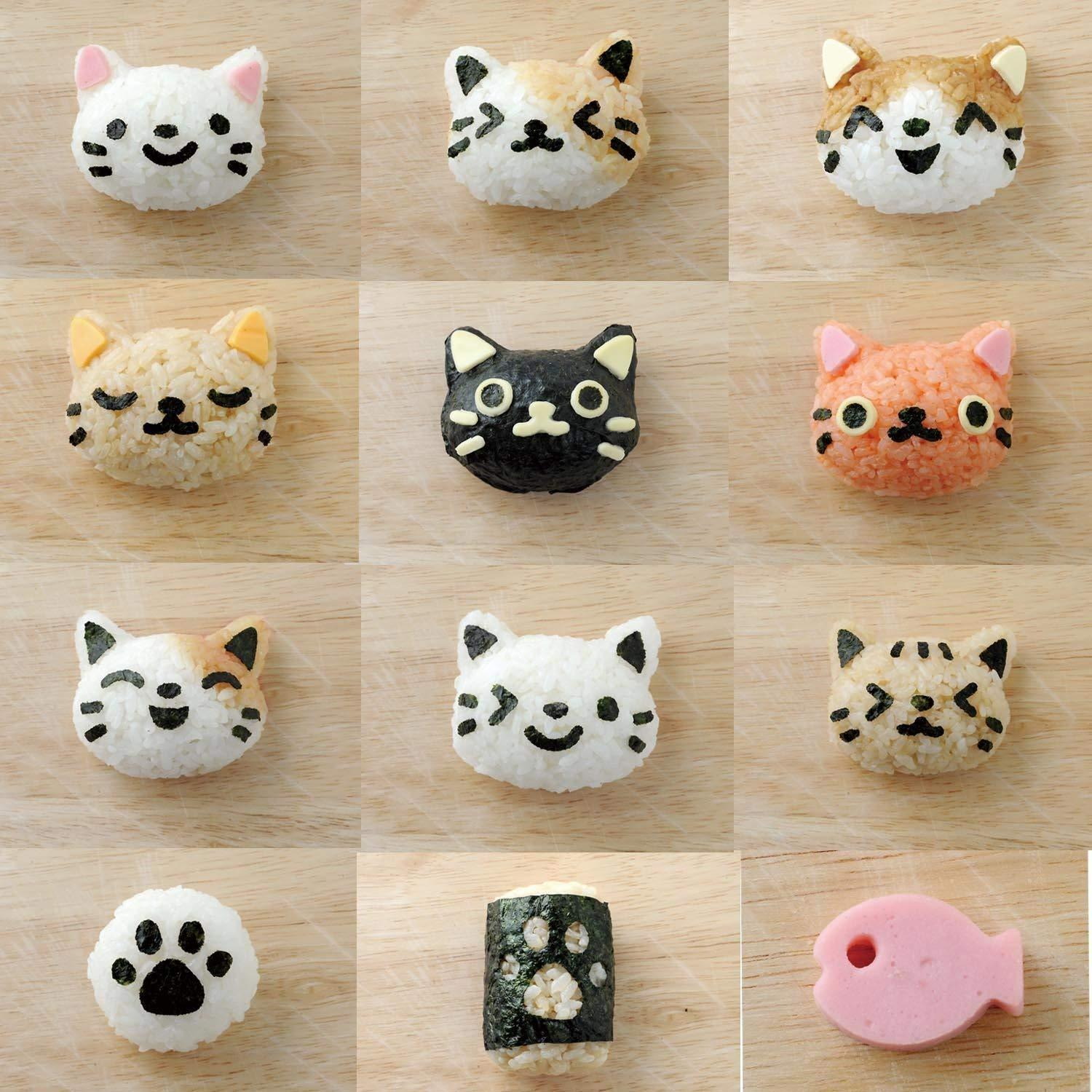 Neko Kao Onigiri Set by Arnest - Bento&co Japanese Bento Lunch Boxes and Kitchenware Specialists