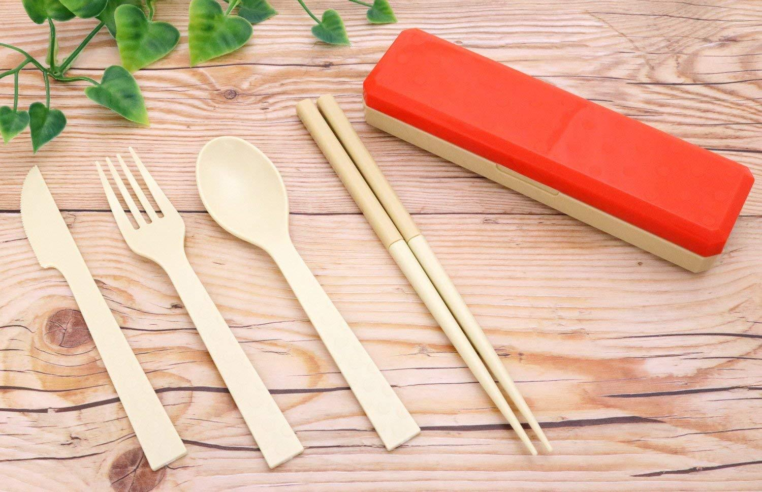 GO OUT Cutlery | Brick Red by Kokubo - Bento&co Japanese Bento Lunch Boxes and Kitchenware Specialists