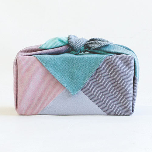Furoshiki Musubi Medium | Green Mix by Yamada Seni - Bento&co Japanese Bento Lunch Boxes and Kitchenware Specialists