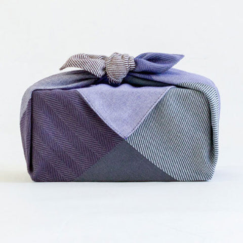 Furoshiki Musubi Medium | Navy Mix by Yamada Seni - Bento&co Japanese Bento Lunch Boxes and Kitchenware Specialists