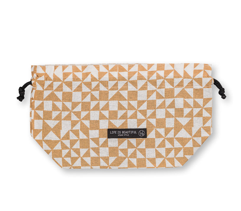 Life Is Beautiful Bag Mosaic White by Showa - Bento&con the Bento Boxes specialist from Kyoto