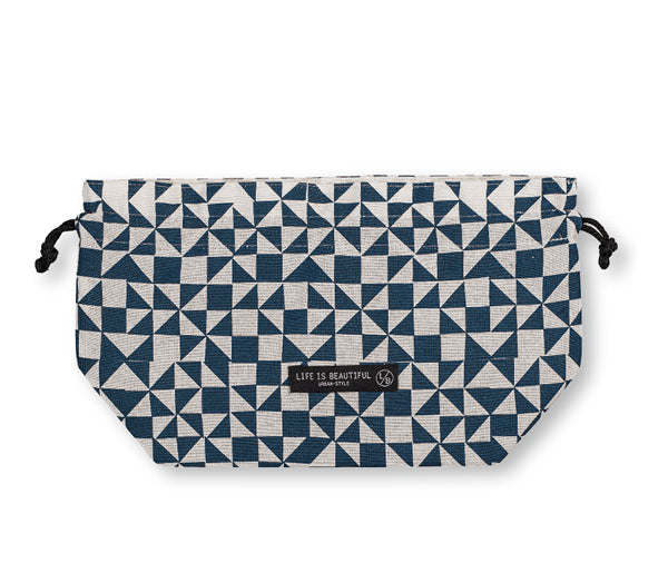 Life Is Beautiful Bag Mosaic Navy by Showa - Bento&co Japanese Bento Lunch Boxes and Kitchenware Specialists