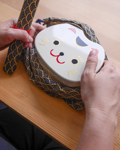 Kao Neko Bento | White by Hakoya - Bento&co Japanese Bento Lunch Boxes and Kitchenware Specialists