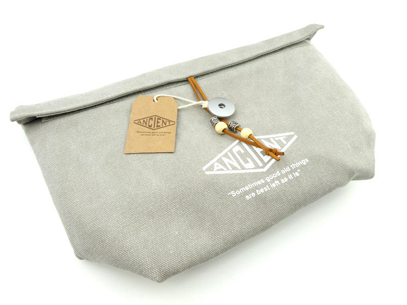 Ancient & Chic Lunch Bag | Grey by Showa - Bento&co Japanese Bento Lunch Boxes and Kitchenware Specialists