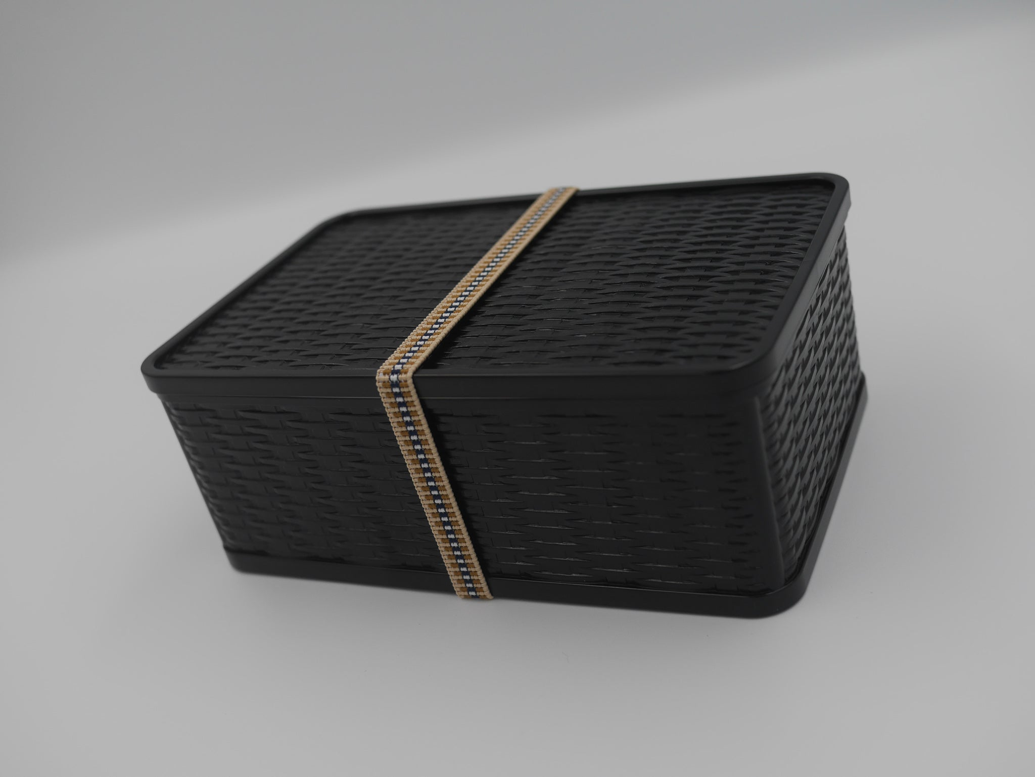 Basket-style One-tier Lunch Box | Black