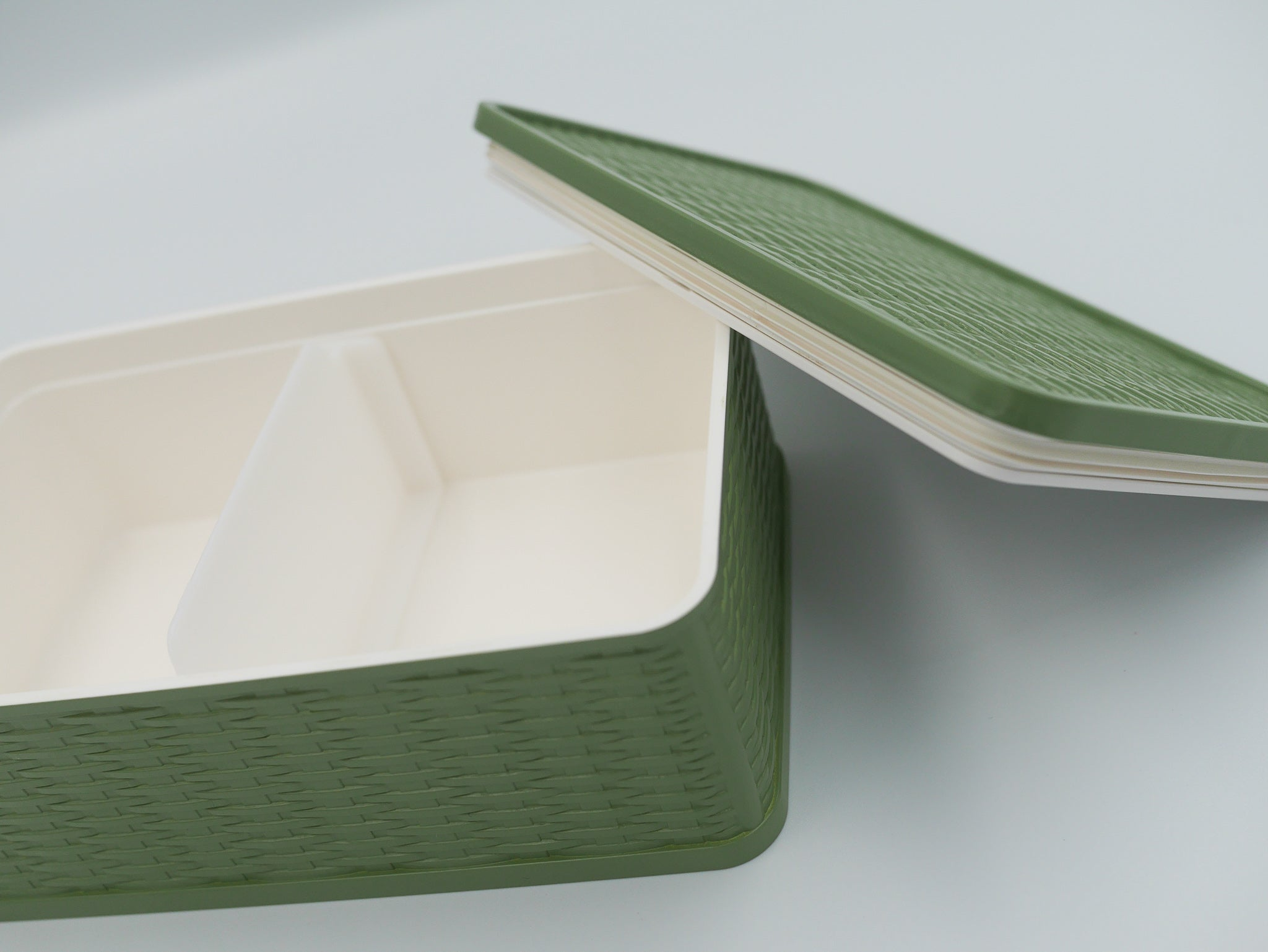 Basket-style One-tier Lunch Box | Green