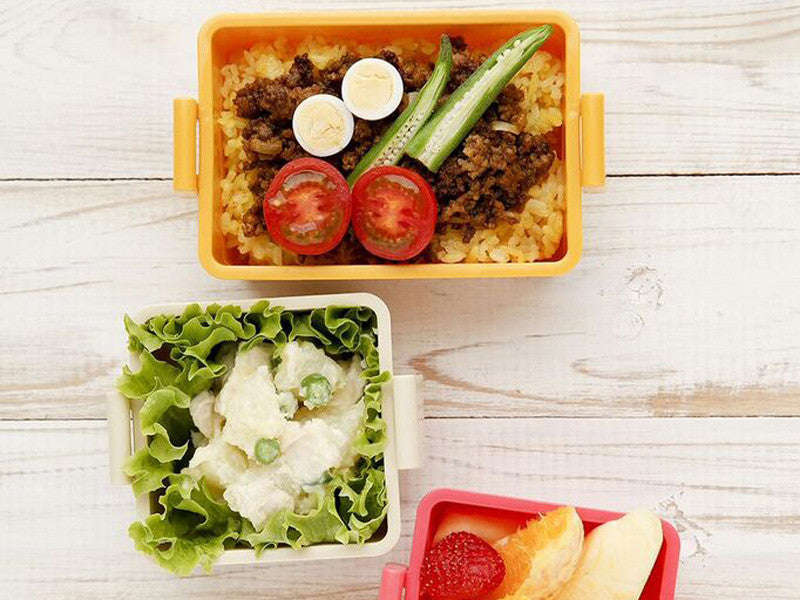 Gel-Cool Square Bento Box Large | Milk White by Gel Cool - Bento&co Japanese Bento Lunch Boxes and Kitchenware Specialists