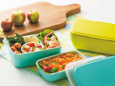 Cool-Bento 2-stack Lunch Box | Moon Grey by Hakoya - Bento&co Japanese Bento Lunch Boxes and Kitchenware Specialists