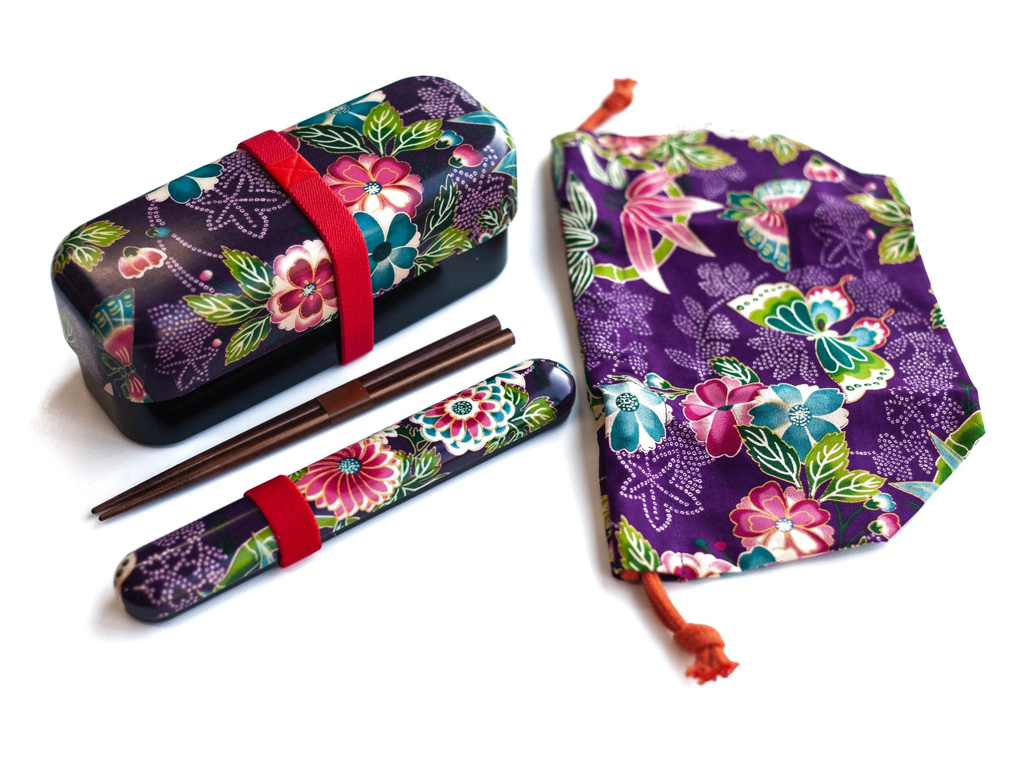 Kimono Bento Bundle | Murasaki Long by Bento&co - Bento&co Japanese Bento Lunch Boxes and Kitchenware Specialists