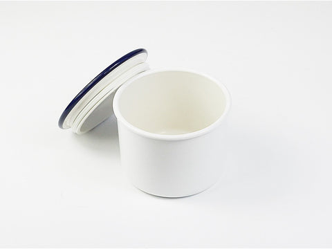 Takenaka Retro Moda Canister | White & Navy by Takenaka - Bento&co Japanese Bento Lunch Boxes and Kitchenware Specialists