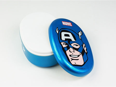 Captain America Marvel Oval Bento Box by Yaxell - Bento&con the Bento Boxes specialist from Kyoto