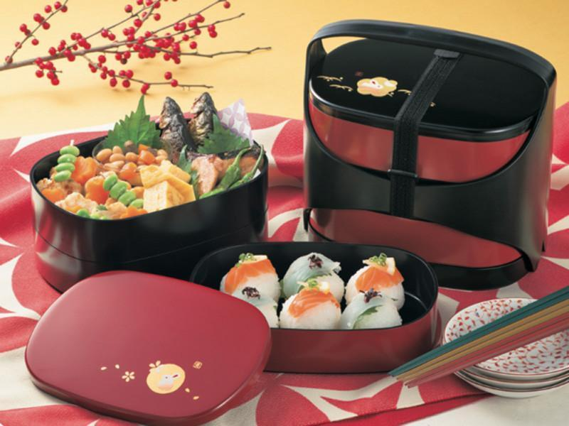 Basket Bento Usagi | Black Lid by Hakoya - Bento&co Japanese Bento Lunch Boxes and Kitchenware Specialists