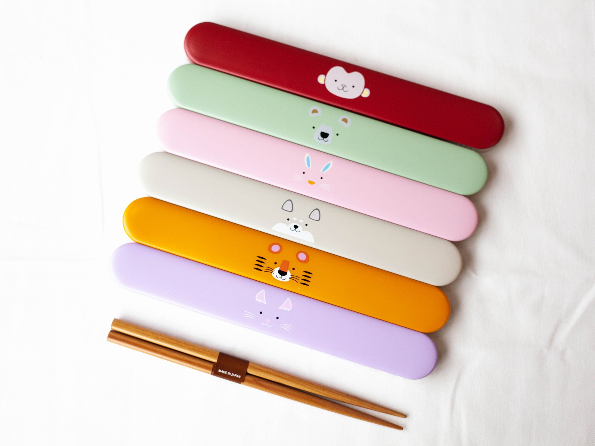 Kokeshi Neko Chopsticks Set | Purple by Hakoya - Bento&co Japanese Bento Lunch Boxes and Kitchenware Specialists