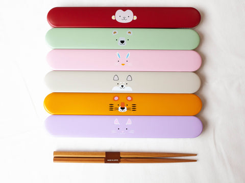 Kokeshi Neko Chopsticks Set | Purple