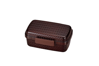 Ajiro Side Lock Bento Box Medium | Dark Brown by Hakoya - Bento&co Japanese Bento Lunch Boxes and Kitchenware Specialists