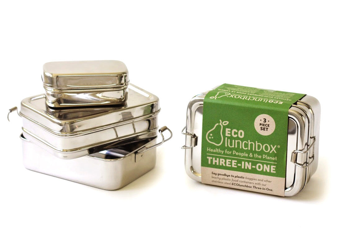 Stainless Steel ECO Lunch Box 3 in 1 by ECO Lunch Box - Bento&co Japanese Bento Lunch Boxes and Kitchenware Specialists