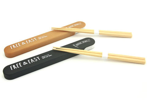 Free & Easy Wood Tones Chopsticks Black by Showa - Bento&co Japanese Bento Lunch Boxes and Kitchenware Specialists