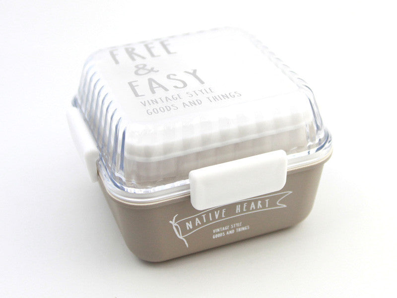 Free and Easy Square Bento Box | Grey by Showa - Bento&co Japanese Bento Lunch Boxes and Kitchenware Specialists