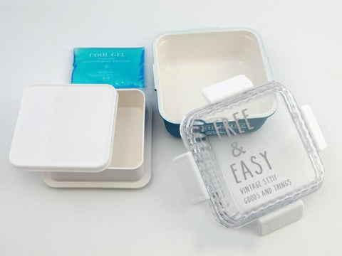 Free and Easy Square Bento Box | Blue by Showa - Bento&co Japanese Bento Lunch Boxes and Kitchenware Specialists