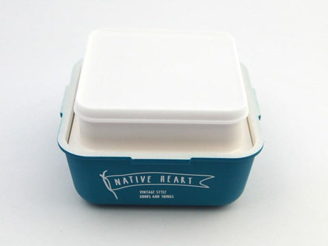 Free and Easy Square Bento Box | Blue