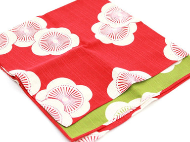 Furoshiki Ume 48cm | Red & Green by Yamada Seni - Bento&co Japanese Bento Lunch Boxes and Kitchenware Specialists