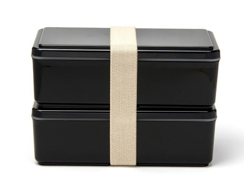Gel-Cool Two Tier Rectangle Bento Box | Black