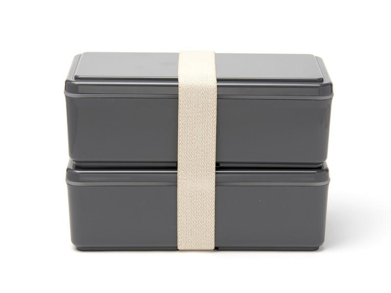 Gel-Cool Two Tier Rectangle Bento Box | Gray
