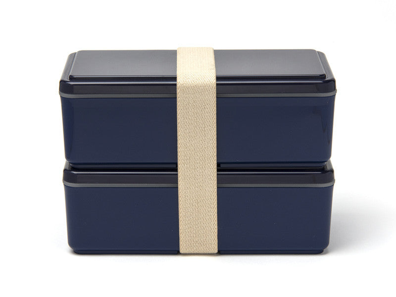 Gel-Cool Two Tier Rectangle Bento Box | Navy by Gel Cool - Bento&co Japanese Bento Lunch Boxes and Kitchenware Specialists
