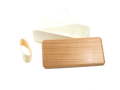 Sugi Bento Box | White by Gel Cool - Bento&co Japanese Bento Lunch Boxes and Kitchenware Specialists