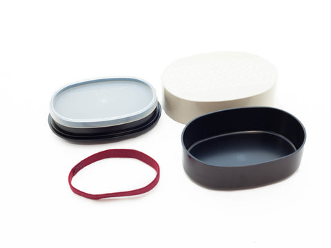 Asanoha Leaf Oval Bento Box | Ivory by Sabu Hiromori - Bento&co Japanese Bento Lunch Boxes and Kitchenware Specialists