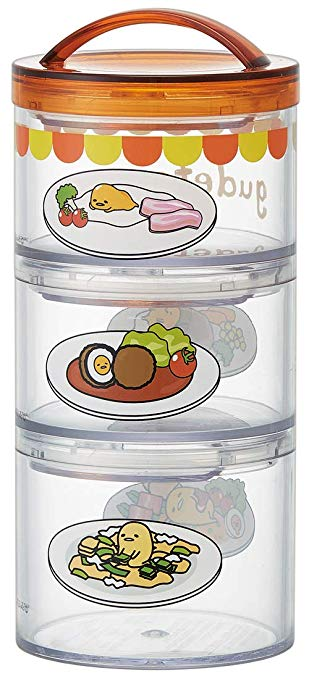 Gudetama Stackable 3 Tier Bento Box by Skater - Bento&co Japanese Bento Lunch Boxes and Kitchenware Specialists
