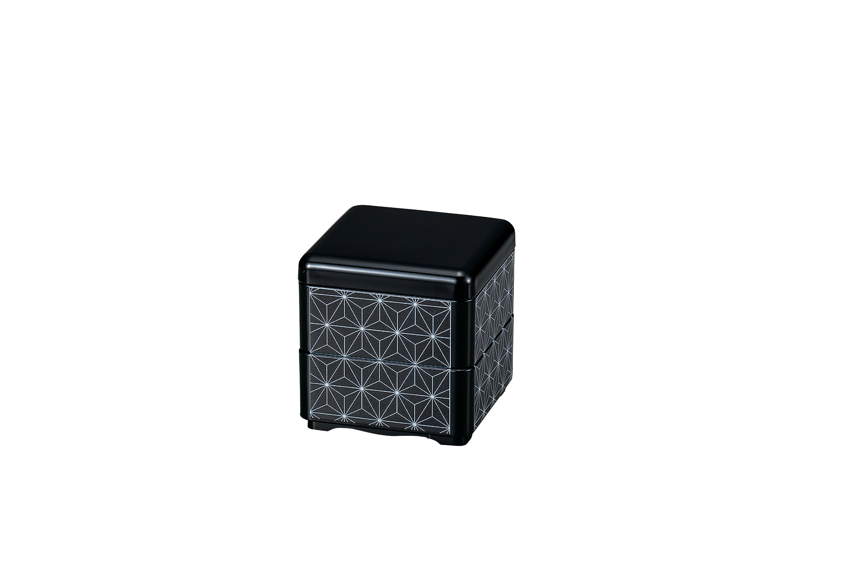 Mini Bento Box | Asanoha Black by Hakoya - Bento&co Japanese Bento Lunch Boxes and Kitchenware Specialists