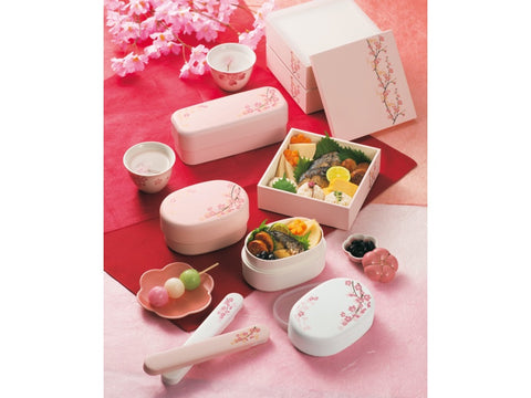 Sakura Long Bento Box | Pink by Hakoya - Bento&co Japanese Bento Lunch Boxes and Kitchenware Specialists