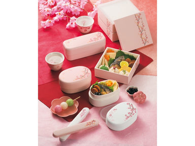 Sakura Long Bento | White by Hakoya - Bento&co Japanese Bento Lunch Boxes and Kitchenware Specialists