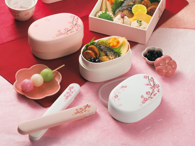 Sakura Compact Bento Box | White by Hakoya - Bento&co Japanese Bento Lunch Boxes and Kitchenware Specialists