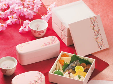 Sakura 15 Square Bento | White by Hakoya - Bento&co Japanese Bento Lunch Boxes and Kitchenware Specialists