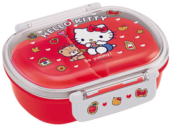 Hello Kitty Cookie Side Lock Bento Box | Oval by Skater - Bento&co Japanese Bento Lunch Boxes and Kitchenware Specialists