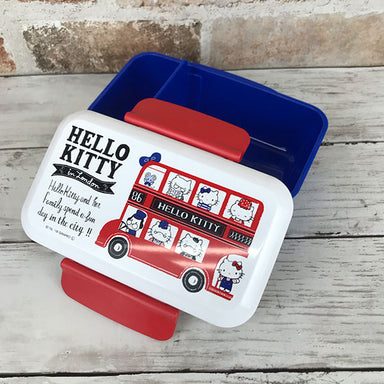 Hello Kitty London Side Lock Bento | Rectangle by Skater - Bento&co Japanese Bento Lunch Boxes and Kitchenware Specialists