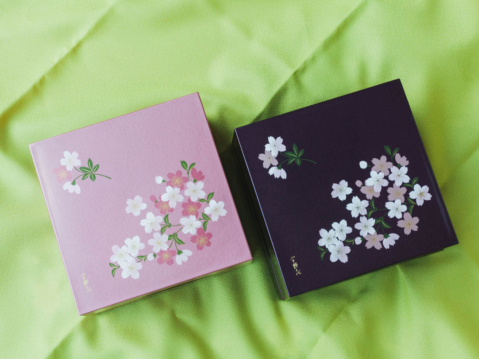 Two-Tier Cherry Blossom Square Bento Box | Purple by Showa - Bento&co Japanese Bento Lunch Boxes and Kitchenware Specialists