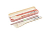 Jiji Stripes Trio Cutlery Set by Skater - Bento&co Japanese Bento Lunch Boxes and Kitchenware Specialists