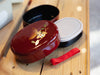 Fukuro Koban Bento Box | Burgundy by Miyamoto Sangyo - Bento&co Japanese Bento Lunch Boxes and Kitchenware Specialists