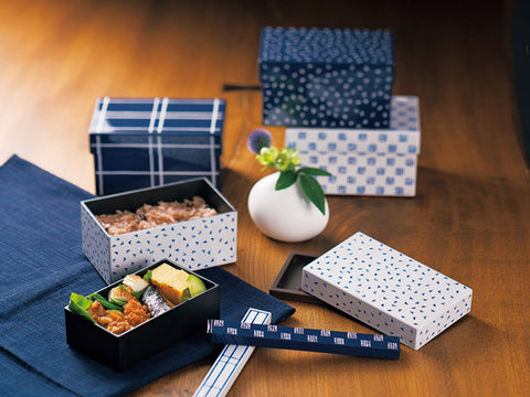 Some Mon Hakoben Hana Indigo by Hakoya - Bento&con the Bento Boxes specialist from Kyoto