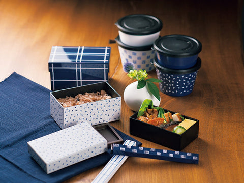 Some Mon Hakoben Hana Indigo by Hakoya - Bento&co Japanese Bento Lunch Boxes and Kitchenware Specialists