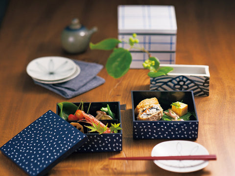Some Mon Square Lunch Hana Indigo by Hakoya - Bento&con the Bento Boxes specialist from Kyoto