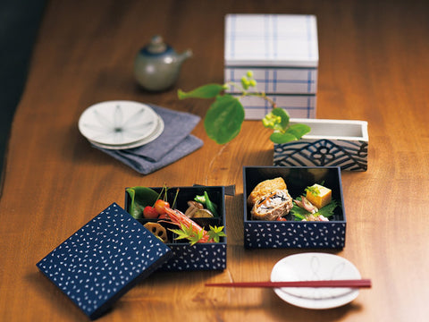 Some Mon Square Lunch Hana white by Hakoya - Bento&con the Bento Boxes specialist from Kyoto