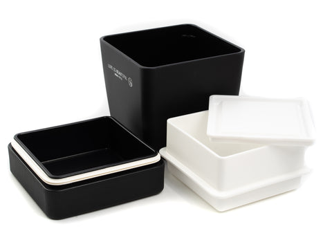 Life is Beautiful Lunch Tall | Black by Showa - Bento&con the Bento Boxes specialist from Kyoto