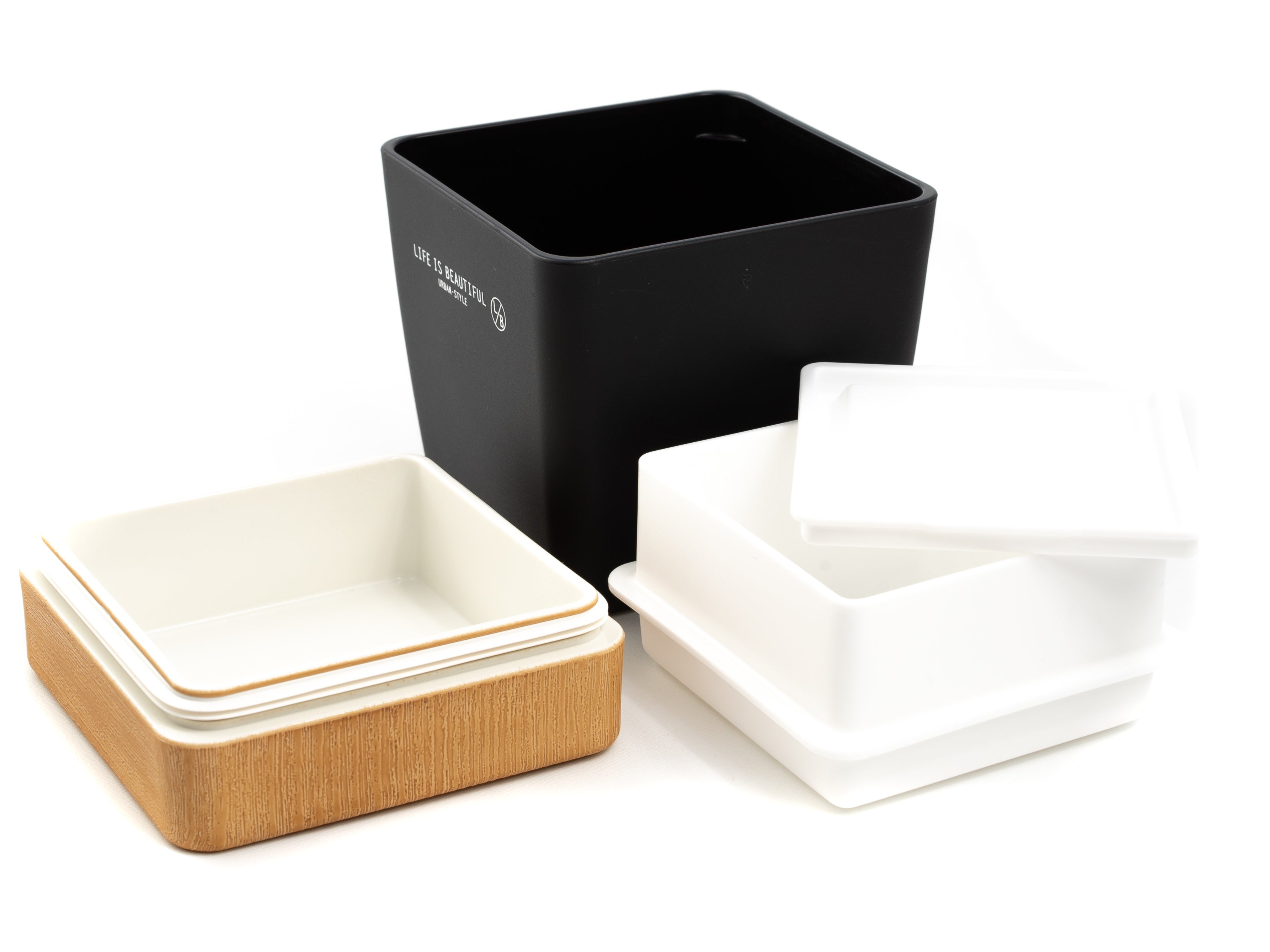 Life is Beautiful Lunch Tall | Natural by Showa - Bento&co Japanese Bento Lunch Boxes and Kitchenware Specialists