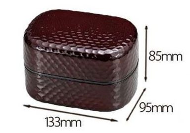 Mokume Kamakura Oval Bento Box Brown by Hakoya - Bento&co Japanese Bento Lunch Boxes and Kitchenware Specialists