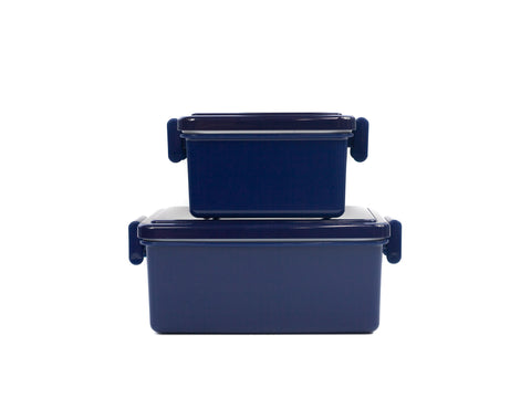 Gel Cool Square Bento Set (400+220ml) | Berry Blue